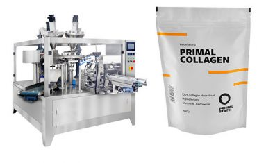 Automatic powder packaging machine for doy bag with zipper